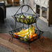 The Delaware antiqued black basket provides organized storage for food and party essentials. Perfect for everyday use but sophisticated enough for your holiday parties. The innovative design of this basket coupled with its exquisite construction will make it a focal point of your home for years to come.