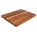 Edge grain rectangular teak carving boards are an eye-catching complement to any serious chef's kitchen. Used for centuries by the ship building industry, teak is not only durable and moisture resistant, but also easier than bamboo on knife blades. These spacious boards are not only large enough to handle feasts for family and friends, but the convenient weight and practical handgrip make carving a breeze. Proteak's edge grain cutting boards are made entirely from our environmentally-managed plantations.