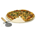 Made of natural stone to spread heat quickly and evenly, for perfect pizza pie with crispy crust and gooey cheese. Can also be used for serving: take it straight from the oven to the table to keep pizza hotter for a longer period of time. Includes pizza cutter and recipes.