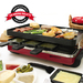 We proudly offer the largest assortment of Raclettes to suit every Raclette cooking style. From reversible grill/crêpe tops like our standard non-stick cast aluminum or classic cast iron, to the ultimate grilling experience, the granite stone grill top, it is all about versatility. In addition to our iconic classic 8-person Raclette model, we have several innovative designs that add versatility to Raclette cooking. As you have come to expect from Swissmar, we strive to bring innovation to the Raclette category. Our new Locarno model is where Italy meets Switzerland, bringing together Swiss and Italian cuisines as a Pizza Raclette Party Grill. Let's not forget our Swivel model which features both cast aluminum and stone grilling surfaces in a shape-changing design. New for 2016 we are introducing our Classic Raclette in a new copper finish and a relaunch of our best-selling 'Matterhorn' Oval Raclette.