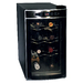 Keep your wine chilled to perfection with the Koolatron 8 bottle home wine fridge. This wine cellar holds 8 wine bottles, and features a silent and vibration-free thermoelectric cooling system. The removable shelves allow you to customize the cellar and the built-in soft lighting makes it a perfect show piece in any kitchen, den, or home bar. This unique wine fridge is perfect for either red or white wine. The electronic temperature controls takes the guesswork out of storage, and make it easy for you to keep your wines at the perfect temperature.
