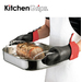 Kitchen Grips With its popular collection of kitchen gloves, trivets, and pot grabbers and holders, Kitchen Grips is an undisputed favourite among professional and amateur chefs. Kitchen Grips products are made with FLXaPrene™, the company's patented, flexible, water-repellent and anti-microbial material, which can withstand temperatures ranging from -92C (-134F) to 260C (500F). The company, which was founded in Los Angeles in 1985, produces distinctive collections for retail consumers and restaurant professionals. Whether you have large or small hands, Kitchen Grips has a mitt that will fit just right.