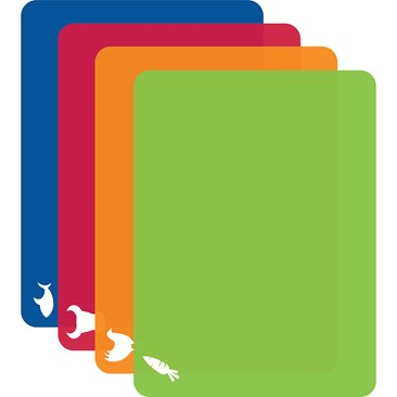 Bright Colors Flex Mats with Icons