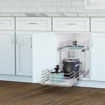 2-Tier Pull Out Cabinet Drawer